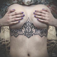Breast Plate Tattoos