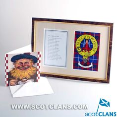 Fathers Day Verse Card and Preston Clan Crest