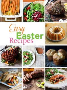 Recipes for Easter brunch/lunch or any time of day! From the perfect sides to dessert and everything in between, make great salads, pork tenderloin and rack of lamb.  Feast favorites here: http://www.ehow.com/about_6301090_traditional-easter-dinner_.html?utm_source=pinterest.com&utm_medium=referral&utm_content=curated&utm_campaign=fanpage