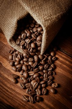 Fresh Brown coffee caffeine bean background by Jean-Bernard Nadeau