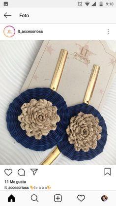 Designer Earrings, 9 And 10, Earrings Handmade, Passion For Fashion, Crochet Earrings, Weaving, Bling, Knitting, Crafts
