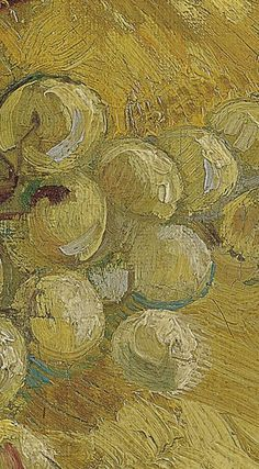 Detail of 'Grapes', September-October Vincent van Gogh - Credits (obliged to state): Van Gogh Museum, Amsterdam (Vincent van Gogh Foundation). Van Gogh Art, Van Gogh Museum, Lust For Life, High Art, Vincent Van Gogh, Foundation, Colours, Detail, Amsterdam
