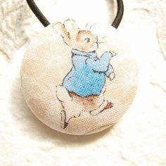 Peter Rabbit Beatrix Potter hair bobble ponytail by Minibuds, £3.20