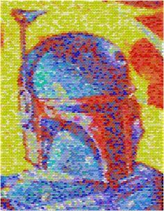 02aad3f2240c Boba Fett Pez Mosaic by Paul Van Scott