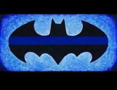 Batman thin blue line.. way cool... I probably pin too much of this stuff but it's batman!!