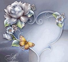 Do you have plans for the rest of your life,,, Flower Frame, Flower Art, Et Wallpaper, Borders And Frames, Decoupage Paper, Floral Border, Tole Painting, Heart Art, Paper Background