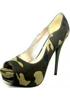MILITARY PLATFORM PUMPS-Heels-prom heels,high heels shoes,leopard heels,hot pink heels,cheap heels,party shoes heels,sexy heels,Platform Heels,high heel pumps,Wedge Heels,Flat Heels