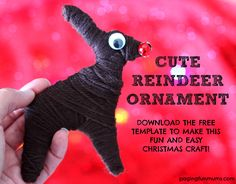 Cute Reindeer Craft - download the FREE template here! So FUN and easy to create!