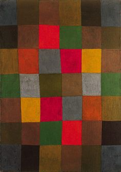 "peinture allemande abstraite : Paul Klee, ""New Harmony"", 1936, damier"