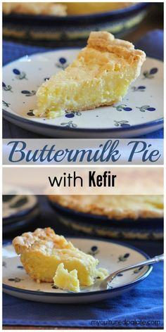 How about a healthier version of an old fashioned dessert? This Buttermilk Pie has 2 healthy sweetener options PLUS it uses kefir (buttermilk can also be used). (Old Fashioned Butter Tarts) Kefir Recipes, Yogurt Recipes, Pie Recipes, Real Food Recipes, Dessert Recipes, Cooking Recipes, Cooking Ideas, Kombucha, Just Desserts