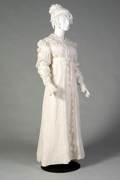 Morning dress ca. 1815 From the Kent State University Museum on Facebook