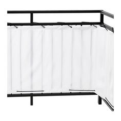 DYNING Balcony privacy screen, white white 98 3/8x31 1/2