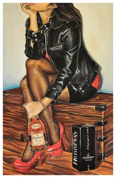 JEREMY WORST Vsop Hennessy Signed Print Original artwork