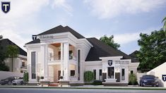 If you love spaciousness and modern living, here is a contemporary 5 bedroom plan that an established family will . Best Modern House Design, Classic House Design, Beautiful House Plans, Dream House Plans, Beautiful Homes, Modern Bungalow House Plans, 6 Bedroom House Plans, Flat Roof House, Bungalow House Design