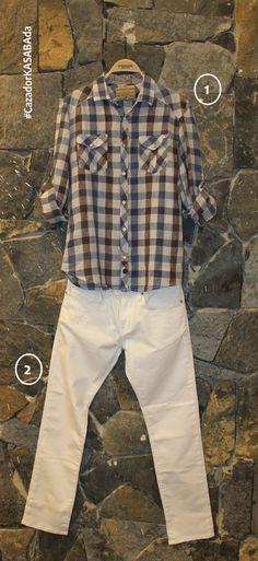 KASABA ERKEKLERİ❗️  Spor ekoseli gömlekler yaza incelerek giriyor! Beyaz kot pantolonlarla çok tarz oluyor..  İNDİRİMLİ fiyatlarıyla #hepsiKASABAda   1. CAZADOR Gömlek     49,99 TL 2. MAVİ Pantolon          109,99 TL  @cazadorcrew