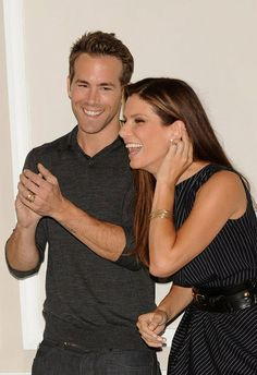 """Ryan Reynolds and Sandra Bullock attended a photocall for their romantic comedy """"The Proposal"""" in June 2009."""