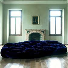 """""""boa"""" by Italian furniture designer & manufacturer Edra, Sofa Furniture, Furniture Design, Furniture Ideas, Restauration Hardware, Blue Velvet Sofa, My Ideal Home, Restaurant, Italian Furniture, Decoration"""