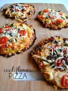 Cauliflower Pizza. #health #food #recipe via: Mimosas in the Morning: