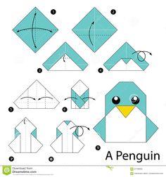Simple origami Dress Step by Step Instructions . Fresh Simple origami Dress Step by Step Instructions . Step by Step Instructions How to Make origami A Penguin Design Origami, Instruções Origami, Origami Paper Art, Origami Dragon, Origami Butterfly, Paper Crafting, Origami Eagle, Origami Envelope, Origami Bookmark