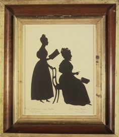 Brooklyn_Museum_-_Cut_Silhouette_of_Two_Women_Facing_Right_-_August_Edouart.jpg (664×768)