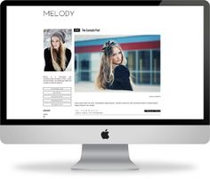 Melody  Blogger Responsive Template  Instant by PinkandLolaShop, $25.00