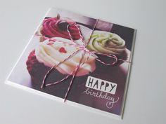 Mooie kaart met cupcakes
