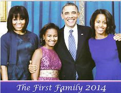 2014 pics of Barack and family | Obama family 2014 calendar nice new a must for all of President Obama ...