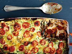 Skinny eggplant 'lasagne'