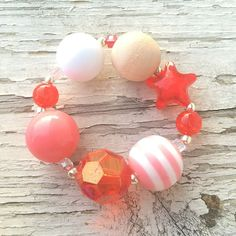 """Coral Breeze"" Girl Bracelet via Jemima, Kezia and Kerenhappuch Daughters. Click on the image to see more!"