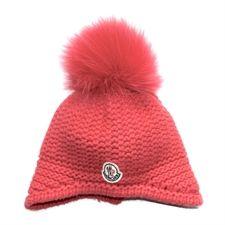 Moncler Pink Hat With Fur Pom Pom
