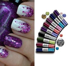Hottest nail art trends you can do at home! Try it with nail care from Duane Reade! Get Nails, Fancy Nails, Love Nails, How To Do Nails, Hair And Nails, Glittery Nails, Gorgeous Nails, Pretty Nails, Nail Art At Home