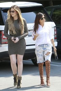 Khloe and Kourtney Kardashian Keep Busy in LA