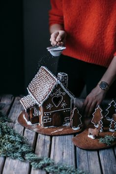 glutenfree ginger bread house and a new watch from cluse