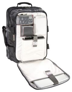 This TSA-compliant carry-on bag will slide through security and charge your devices on the go.