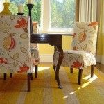 : Flowers Motif Slipcovers for Dining Chairs