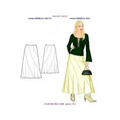 Scarica e stampa adesso cartamodelli gratuiti - www.missart-moda.it Jewelry Model, E Design, Free Pattern, Print Patterns, Pants For Women, Womens Fashion, Skirts, Dresses, Vestidos