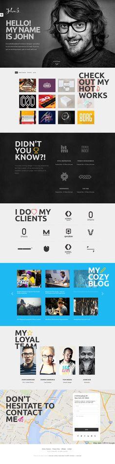 Cool Web Design on the Internet, John's Portfolio. #webdesign #webdevelopment #website @ http://www.pinterest.com/alfredchong/web-design/
