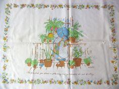 Holly Hobbie  Vintage Standard Pillowcase  Double by GardenLaundry, $7.50