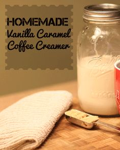 DIY Vanilla Caramel Coffee Creamer - 1/2 cup brown sugar, 2 teaspoon vanilla extract, 1 teaspoon water, 2 c. half & half. Caramelize brown sugar, vanilla, & water over low-med heat in saucepan..Cool for 30-60 sec. Whisk in 2 c. half & half. And that's it!