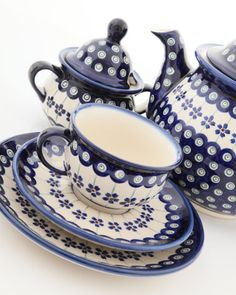 Polish pottery...Will be stopping in Poland FOR SURE!  Love this stuff!