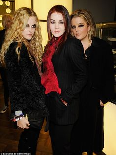 Famous family: Riley sported blonde hair back in 2007 when she attended a Led Zeppelin concert with Lisa Marie and Priscilla
