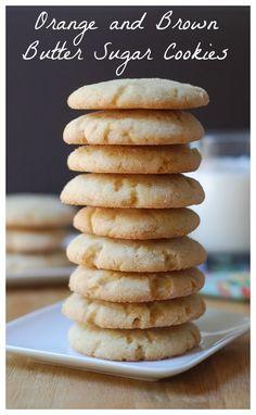Orange and brown butter sugar cookies