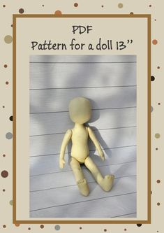 PDF Cloth Doll Pattern 13 lSoft Doll Pattern by NilaDolss on Etsy