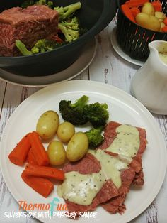 Thermomix Corned Beef Silverside - yes you can! Delicious YES! A regular on the table of many ThermoFun families, it's moist, and always a cheap dinner with