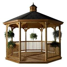 HomePlace Structures 12 ft. Cedar Octagon Gazebo with Floor-CG12F at The Home Depot