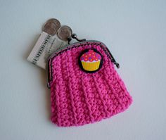 Crochet Cupcake, Coin Purse, Etsy Shop, Wallet, Purses, Trending Outfits, Unique Jewelry, Handmade Gifts, Happy