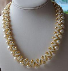 making jewelry: necklace made of bead | make handmade, crochet, craft