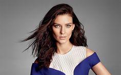 Download wallpapers Kati Nescher, 4k, Russian top model, portrait, beautiful woman, brunette, German model, fashion model