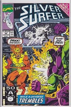 THE SILVER SURFER #52 Marvel Comics INFINITY GAUNTLENT 1991 2nd series DRAX
