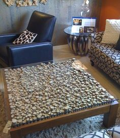 I love this cork table top.